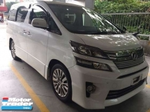 2014 TOYOTA VELLFIRE GOLDEN EYE 2.4CC / ALPHINE TV / 5A CONDITION / READY STOCK  / TIPTOP CONDITION / FREE 4 YEARS WARRANTY