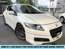 2014 HONDA CR-Z FACELIFT SPORT LIMITED UNIT 6MT