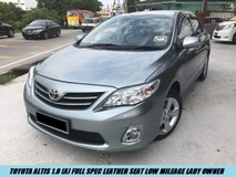 2012 TOYOTA ALTIS 1.8 Full Spec Facelift Leather Seat Low Mileage Lady Owner