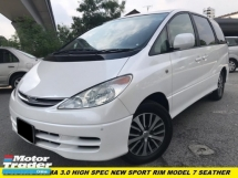 2002 TOYOTA ESTIMA 3.0 V6 FULL SPEC HOME SUNROOF THEATER 2-POWER DOOR FACELIFT MODEL ONE OWNER LOW MILEAGE TIP TOP CONDITION