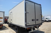 2006 Nissan YU41T5 Refrigerator Bonded Box Chiller Blower 5000kg 16ft Green Diesel Engine