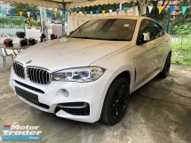 2016 BMW X6 M Performance M Sport M50d 3.0 Twin Turbocharged Adaptive Intelligent LED Automatic Power Boot Memory Full Bucket Seats Multi Function Paddle Shift Steering Sport Plus Eco Pro Pre Crash Bluetooth Connectivity Unreg