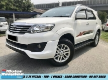 2015 TOYOTA FORTUNER 2.7V TRD PREMIUM PETROL 1OWNER TIP TOP CONDITION NO OFF ROAD GPS SYSTEAM