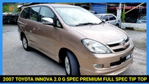 2007 TOYOTA INNOVA 2.0G (AT) LARGE MPV TIP TOP NICE NUMBER PLATE