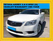 2010 TOYOTA CAMRY 2.0 G FACELIFT (A) SONATA 2.0 CC GPS AND REVERSE CAMERA