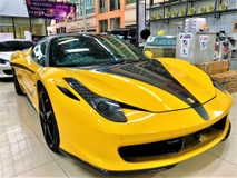 2012 FERRARI 458 ITALIA 4.5 (A) V8 TWINTURBO HIGHEST SPEC FULL CARBON FIBER SERIES LIFTING ABSORBER TIP TOP