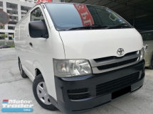 2010 TOYOTA HIACE Panel Van 2.5 DIESEL MT NEW FACELIFT TIP TOP 1 OWNER