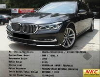 2015 BMW 7 SERIES 730GL 3.0 (A) G12 TURBO 435HP FULL SPEC 730LD 730LI