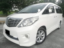 2010 TOYOTA ALPHARD 2.4 (A) SUNROOF MOONROF 7 SEATER BLACK SEAT HIGH SPEC TIPTOP CONDITION