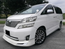 2010 TOYOTA VELLFIRE 3.5V (A) V6 FULL MODELISTA BODYKIT  LUXURY LEATHER SEATS DVD VVIP OWNER 100% ORIGINAL CONDITION