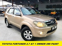 2007 TOYOTA FORTUNER 2.7V 1 OWNER ORI PAINT TIPTOP CONDITION