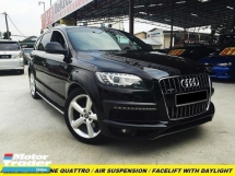 2013 AUDI Q7 3.0TFSI QUATTRO ADAPTIVE AIR SUSPENSION S-LINE REVERSECAMERA POWR BOOT