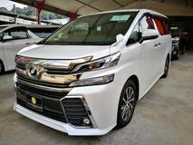 2016 TOYOTA VELLFIRE 2.5ZG Edition (unregistered)
