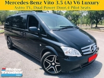 2014 MERCEDES-BENZ VITO 126 3.5L V6 (A) LUXURY MPV 4 PILOT SEATS ASTRO TV Vellfire Alphard