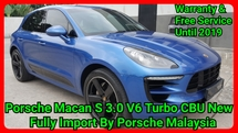 2015 PORSCHE MACAN S 3.0 V6 TURBO CBU IMPORT NEW BY PORSCHE MALAYSIA UNDER WARRANTY & FREE SERVICE UNTIL AUGUST 2019 NO ANY PAYMENT REQUIRED
