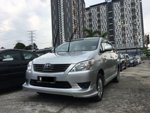 2014 TOYOTA INNOVA 2.0 E (A) FULL LOAN AVAILABLE ** SPECIAL PROMOTION ** EXCELLENT CONDITION **