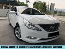 2013 HYUNDAI SONATA 2.0 FULL HIGH SPEC WITH LEATHER SEATS 1MALAY OWNER TIP TOP CONDITION