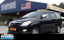 2008 TOYOTA INNOVA 2.0G ( A ) VVT-I NEW FACELIFT !! COMES WITH FULL BODYKIT !! 7 SEATER SUV !! PREMIUM HIGH SPECS !! ( WXX 8388 ) 1 CAREFUL OWNER !!