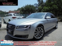 2015 AUDI A8 4.0 L TFSI Quattro V8 Twin-Turbo AWD 8-Speed MMI NAVI ReverseCamera Facelift Luxury LikeNEW