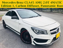 2014 MERCEDES-BENZ CLA 45 AMG 2.0T 4MATIC 9k Mileage ONLY Sunroof Harman Kardon Sound System