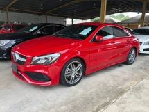 2017 MERCEDES-BENZ CLA CLA200 CLA180 AMG Sport New Facelift Turbocharged 7G DCT Pre Crash Distronic Intelligent Bi LED Memory Bucket Seat Multi Function Paddle Shift Steering Blind Spot Monitor Smart Entry Climate Control Bluetooth Connectivity Unreg