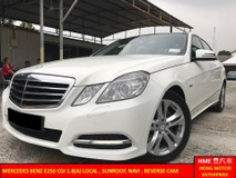 2012 MERCEDES-BENZ E-CLASS E250 CGI AVANTGARDE CKD LOCAL , P/START SUNROOF, NAVI , REVERSE CAM ** 1 OWNER **