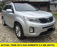 2013 KIA SORENTO 2.4 XM (AT) LEATHER SEAT PANORAMIC ACTUAL YEAR ** NO SST**