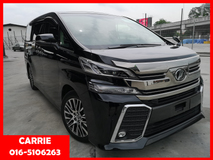 2015 TOYOTA VELLFIRE 2.5ZG Edition (UNREG) - READ TO VIEW-