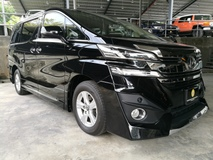 2016 TOYOTA VELLFIRE 2.5 X SPEC FULL BLACK LEATHER BLACK INTERIOR 7 SEATER CHEAPEST IN MARKET UNREG 16