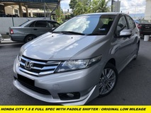 2015 HONDA CITY 1.5E FULL SPEC WITH PADDLE SHIFTER ECO MODE TSC TRACITION CONTROLLER