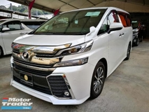 2016 TOYOTA VELLFIRE 2016 TOYOTA VELLFIRE 2.5ZG Edition (unregistered)