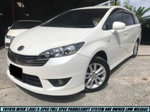 2012 TOYOTA WISH 1.8S MONOTONE S-SPEC PADDELSHIFT HIGH SPEC ONE MALAY OWNER TIPTOP LIKE NEW CAR SHOWROOM