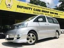 2007 TOYOTA ALPHARD MX SPORT LEATHER SEAT, SUNROOF, HOMETHEATER 1 CAREFUL OWNER