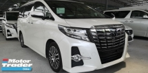 2015 TOYOTA ALPHARD 2.5 SC PILOT SEATS / FULL LEATHER / SUNROOF / 4 CAMERA / PRE-CRASH / DON'T MISS OUT THIS TIME