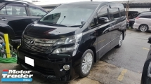 2013 TOYOTA VELLFIRE 2.4 VVTI (A) REG 2016 Z-G MODEL, ONE CAREFUL OWNER, HOME THEATER SURROUND SYSTEM, DVD MONITOR, PILOT SEAT, 18