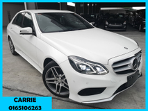 2014 MERCEDES-BENZ E-CLASS E250 AMG WITH SURROUND VIEW CAMERA (UNREG)