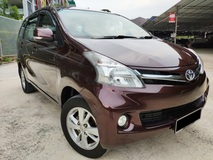 2012 TOYOTA AVANZA 1.5G (A) 1 Owner / High Loan / Accident Free / See To Believe