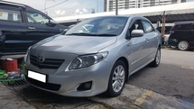 2008 TOYOTA COROLLA ALTIS 1.8 G VVTI (A) REG 2009, G SPEC, 1 ELECTRIC SEAT, WOODEN STEERING, CAREFUL OWNER, 16