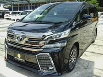 2015 TOYOTA VELLFIRE 2015 TOYOTA VELLFIRE 3.5 ZAG NEW STOCK CONDITION LIKE NEW CAR UNREG 15