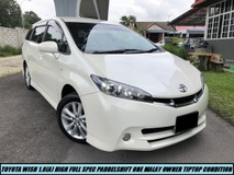 2012 TOYOTA WISH 1.8 Facelift Full Spec Paddle Shift Low Mileage