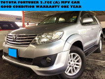 2012 TOYOTA FORTUNER 2.7 CC TRD SPEC  PETROL MPV CAR FULL LEATHER SEATS FACELIFT SUV KM