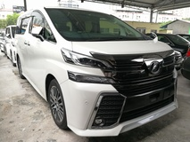 2015 TOYOTA VELLFIRE 2.5 ZG SUNROOF PRE CRASH SAFETY UNREG 2015