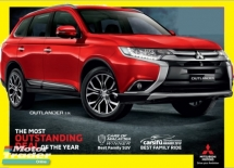 2019 MITSUBISHI OUTLANDER 4WD SUV Discount Std 6K + Additional