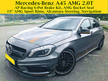 2014 MERCEDES-BENZ A-CLASS A45 AMG 2.0T 4MATIC 3Xk Mileage ONLY AP RACING 6 POT MERCEDES BENZ