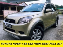 2010 TOYOTA RUSH 1.5S (AT) LEATHER SEAT FULL KITS 1 LADY OWNER ORI PAINT