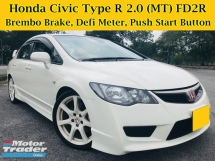 2011 HONDA CIVIC 2.0 TYPE R (MT) FD2R RECARO SEATS BREMBO BRAKE DEFI METER