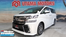 2016 TOYOTA VELLFIRE 2.5 ZG 7 SEATER POWER DOOR POWER BOOT RAYA PROMOTION