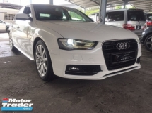 2014 AUDI A4 S LINE FACELIFT.TRUE YEAR MADE CAN PROVE.MILEAGE 98K KM ONLY.AUDI MALAYSIA SERVICE.PUSH START BUTTON.B N O SOUND SYSTEM.ELECTRIC SEAT,LEATHER.PADDLE SHIFT.FREE WARRANTY N MANY GIFTS