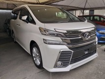 2015 TOYOTA VELLFIRE 2.5 Z SPEC 7 SEATERS  2 POWER DOORS ALPINE MONITOR UNREG