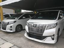 2017 TOYOTA ALPHARD 2.5 SC (SUNROOF) PILOT SEATS PRE CRASH SAFETY NEARLY NEW CAR UNREG 2017